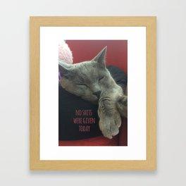 No care Framed Art Print
