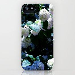 Blue Snowballs II iPhone Case