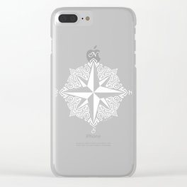 Cindy's Tribal Compass Rose Clear iPhone Case