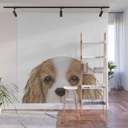 Cavalier King Charles Spaniel Dog illustration original painting print Wall Mural