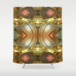 Golden Globes / /  #fractal #fractals #3d Shower Curtain