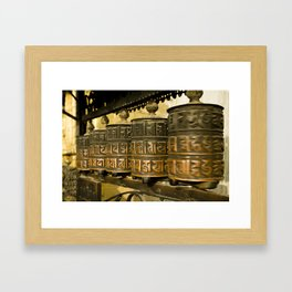 Tibetan Prayer Wheel Nepal Temple Framed Art Print