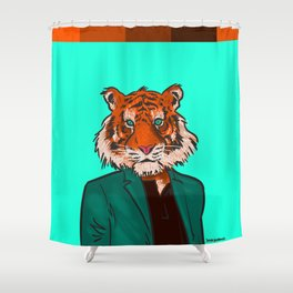 Tiger Beat Shower Curtain