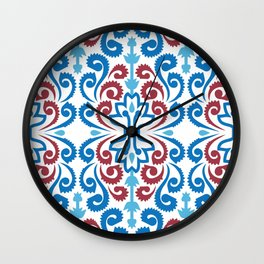 Chinoiserie Damask Wall Clock