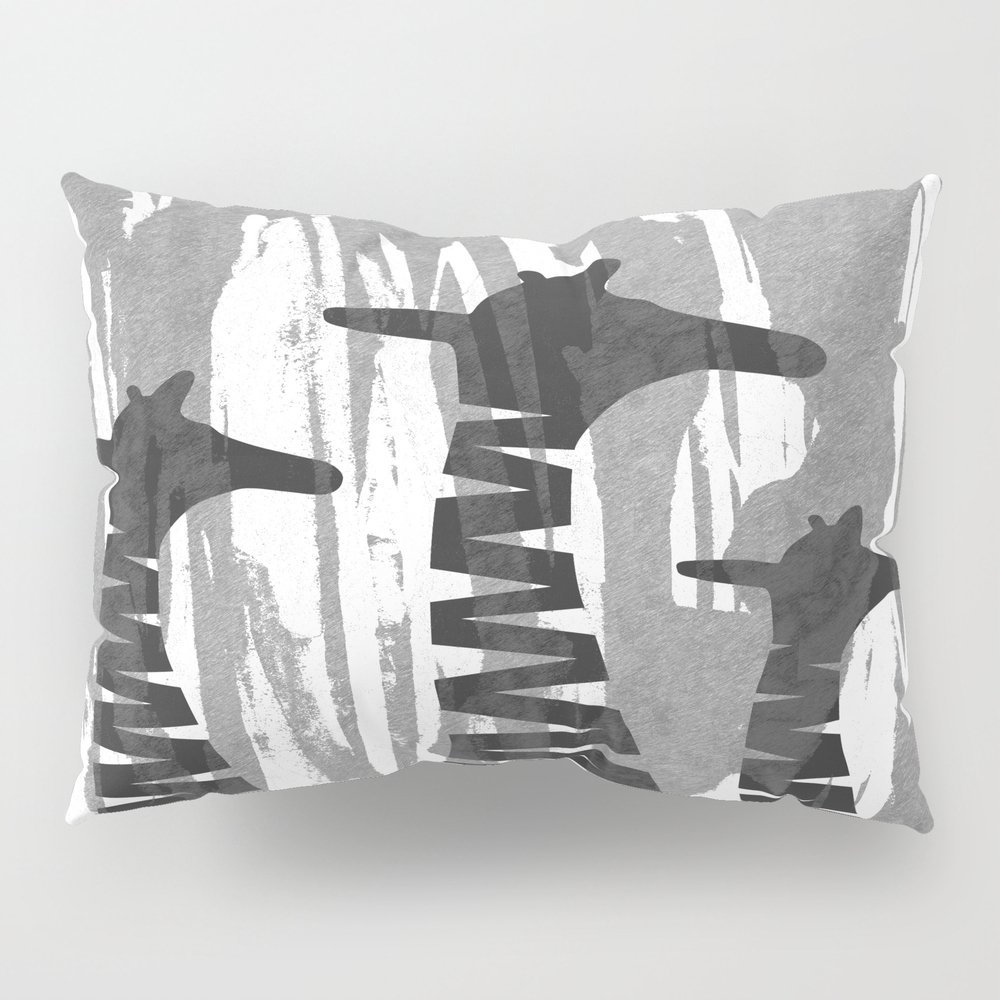 Unique Abstract Giraffe Family Pillow Sham by Oursunnycdays PSH7432018