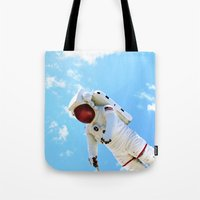 spaceman Tote Bags featuring Spaceman by Richwill Company