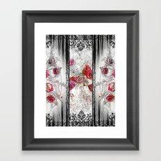 Gothic Victorian Roses Design Framed Art Print