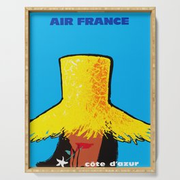 Cote D'Azur- Vintage Air France Travel Poster Serving Tray