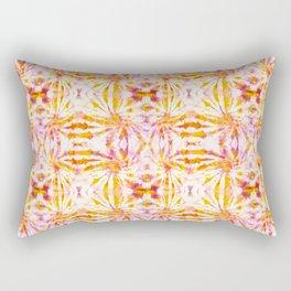 Summer Vibes Tie Dye in Sunrise Orange Rectangular Pillow