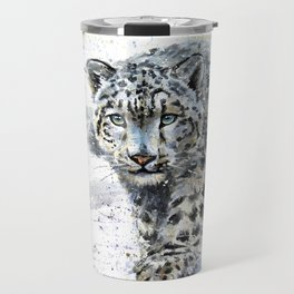 snow leopard Travel Mug