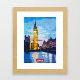 London city skyline Framed Art Print