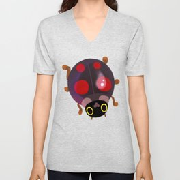 Lady beetles Unisex V-Neck