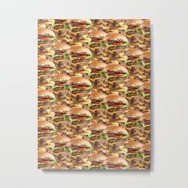 Triple Stack Attack Burger Metal Print
