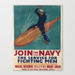 Vintage poster - Join the Navy Canvas Print