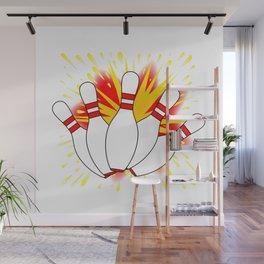 Ten Pin Comic Blast Wall Mural