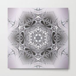 Ice crystal mandala Metal Print