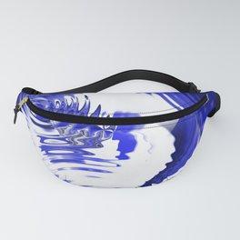 Rain Blue Water Ripples Fanny Pack