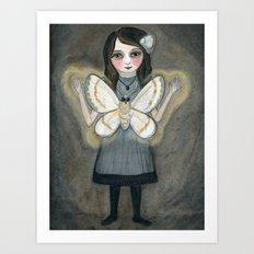 The Moth Girl, Victorian Portrait Art Print