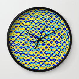 Brain Coral Dark Blue Banded Cross Small Polyps - Coral Reef Series 030 Wall Clock