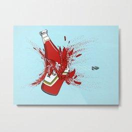 To Ketchup Bullet Metal Print