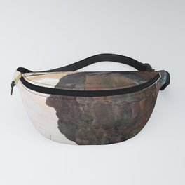 Face in the Cliff Fanny Pack