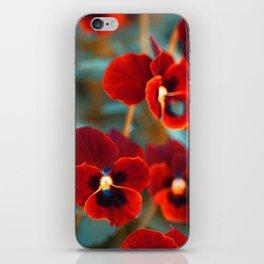 Red violas iPhone Skin