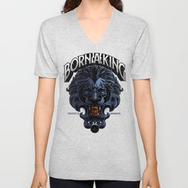 Born A King Unisex V-Neck