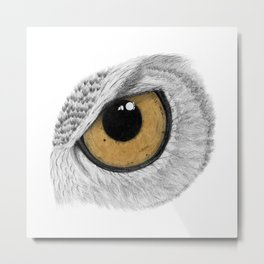 Gold Owl Eye Metal Print