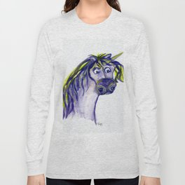 Purple Unicorn Long Sleeve T-shirt