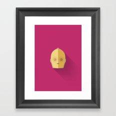 C3PO Minimalist Poster Framed Art Print