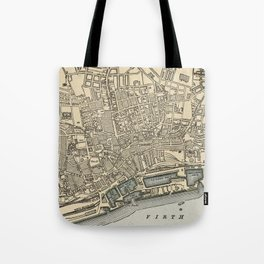 Vintage Map of Dundee Scotland (1901) Tote Bag