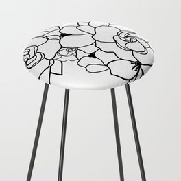 Floral Roots Counter Stool