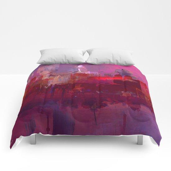 Red city Comforters
