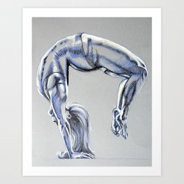 Bend Over Backwards Art Print