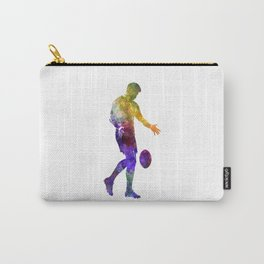 Rugby man player 02 in watercolor Carry-All Pouch