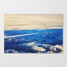 Airplane above the Clouds I Canvas Print