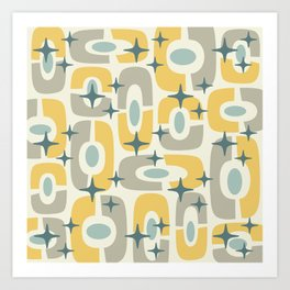 Colorful Mid Century Modern Cosmic Abstract 366 Art Print