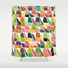 ikat weave Shower Curtain
