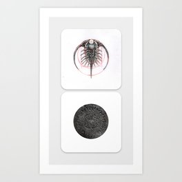 New Naturalism XV: Trilobite/ Victorian tide computer Art Print