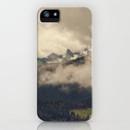 Mountains through the Fog iPhone Case