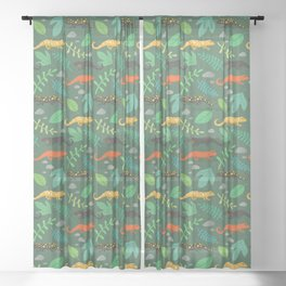 Salamanders Sheer Curtain
