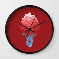 elk Wall Clocks featuring Elk by Trevor Seymour