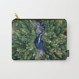 königssee waterfall alps bayern forrest drone aerial shot nature wanderlust vertical Carry-All Pouch