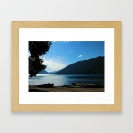 Lake Crescent Shore Framed Art Print