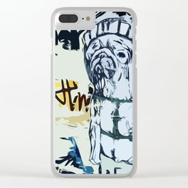 Hobbie in Barcelona Clear iPhone Case