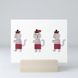 Scottish fold cat William Mini Art Print