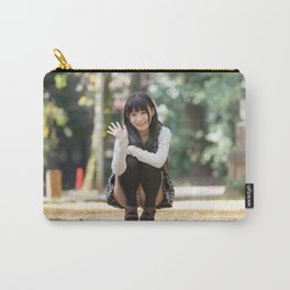 A Voyeur Image of a Cute Japanese Girl unaware she is being Photographed Carry-All Pouch
