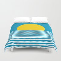 sunrise Duvet Covers featuring Sunrise by FLATOWL