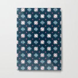 Kimono Pattern Metal Print