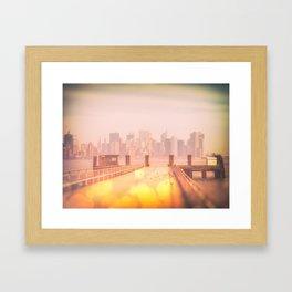 Liberty Island - Ektachrome and Bokehs Framed Art Print